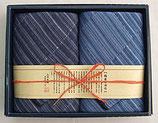 縞屋の治作 多重織ガーゼ フェイスタオル2P