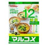 Marukome Genen Miso Soup 12P  マルコメ減塩味噌汁 12食