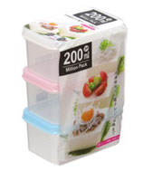Food container 200ml x 3P  ミリオンパック 200ml x 3P