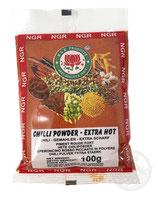 Chilli Powder - Extra Hot 100g  チリパウダー 大辛