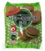 Marukyo Pancake Dorayaki Matcha 6P 310g パンケーキどら焼き 抹茶