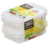 Food container 380ml x 2P  ミリオンパック 380ml x 2P