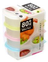 Food container 80ml x 4P  ミリオンパック 80ml x 4P