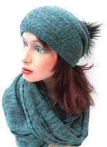 3-teiliges Set Mütze Schal/Loopschal und Handschuhe , in 5 Farben zur Auswahl. ( 5 )
