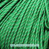 CESCALADA019 - Cordón de Nylon de Escalada  4mm - Verde hierba y puntos blancos  (3 Metros)