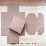 Caja almacenaje cartón craft mediana 62mm (12 unidades)