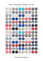 140 Imágenes de estampados marineros 14x14mm