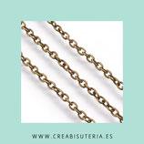 Cadena sencilla bronce viejo eslabón pequeño  sencillo 3x2mm (5m) CSEN2X3mm