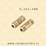 Entrepieza D Tubo Sol  dorado  (40 unidades)