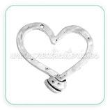 Colgante corazón gigante nudo abajo ZAMAK*  COLOOO-C0081416 - 2 unidades