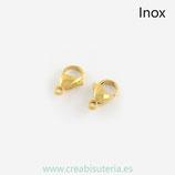 INOX - Mosquetón acero inoxidable dorado mini (4 unidades) R050