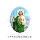 Cabuchón Cristal Religión - San Judas Tadeo