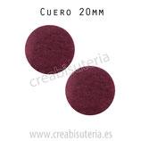 Adorno círculo cuero 20mm  (2 unidades)