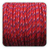 Cordón de Nylon de Escalada Redondo 3mm marinero, rojo y pizcas azul y blanco (3 metros)
