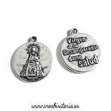 Charm medalla Virgen de los Desamparados  (10 unidades)