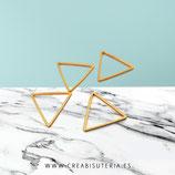 Aro dorado New Latón -  triangular  (10 unidades)
