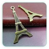 Charm Torre Eiffel  bronce antiguo plana CHAOOO-Lc801