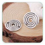 Conector Espiritual 3 - 033 - espiral plata vieja  sin asas C0103322  (2 unidades)