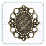 Camafeo oval ornamental bronce antiguo CAMBAS-C14270