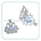 Colgante Flor de Loto articulable y resina azul  83109