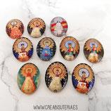 Cabuchón Cristal Religión - Virgen del Pilar imágenes variadas 18x25mm (10 unidades mix)