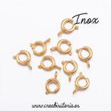 INOX - Cierre redondo clásico retráctil  dorado(10 unidades)