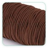 Cordón de goma marrón siena tostada  2mm (4 metros)