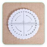 Kumihimo disco redondo pequeño 10,3cm