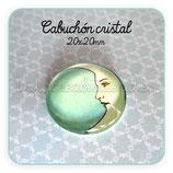 Cabuchón Cristal  luna turquesa