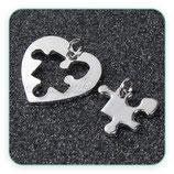 COLGANTE PARA COMPARTIR - corazón y puzzle  ZAMAK C0088907