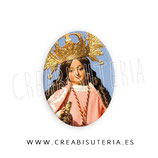 Cabuchón Cristal Religión - Virgen Rosa, patrona Alcantarilla