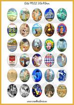 30 Imágenes para camafeos de arte M02  Formato:30x40mm