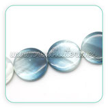 Concha en forma redonda Blanco Azul CONCH-C25480