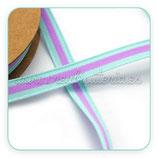 Cinta estampado línea continua Azul y rosa 1cm / metro