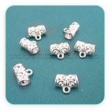Entrepieza con ASA -EA-001- ornam plata  brillo (8 piezas) ENTOOO-C00023B