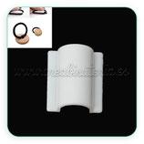 Accesorios pelo - Pieza para confección de goma para el pelo- C44317 Blanca (10 piezas)
