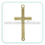 CONECTOR/B/008-cruz bronce antiguo CONOOO-C02160