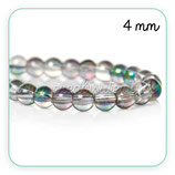 Abalorios cristal multicolor 4mm  C596 (160 unid aprox.)