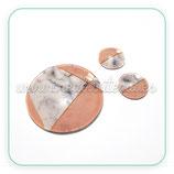 Cabuchón de cristal estampado GEOMETRIA. Color y marmol