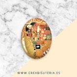 Cabuchón Cristal ilustrado Klimt El abrazo