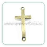 CONECTOR/B/008- cruz bronce antiguo mediana CONOOO-C02160