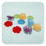FLORLUCIT 50 -Flores acrícilicas pequeñas  new* 16x6mm color mates (10 Unidades)D001