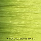 Cordón macramé 1mm  nylon Amarillo flúor  (5 metros)