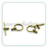 Cierre 025 - barra y aro bronce antiguo ACCCIE-C22573 (10 conjuntos)