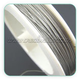 Hilo de alambre de acero plateado 0.45mm (80metros) HIL- P045P
