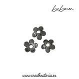 Cascarilla 2 flor margarita mini negra (20 unidades)