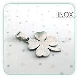 INOX - Trébol de la Suerte acero inoxidable