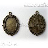 Camafeo oval ornamental CAMBAS-C09376A (10 unidades)