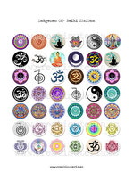 42 Imágenes OM- Reiki- Yoga I 25x25mm