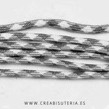 CESCALADA011 - Cordón de Nylon de Escalada  4mm  gris y blanco (3 Metros)